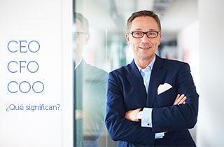 CEO, CFO, COO… ¿Qué significan?