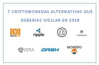 7 criptomonedas alternativas que vigilar en 2018