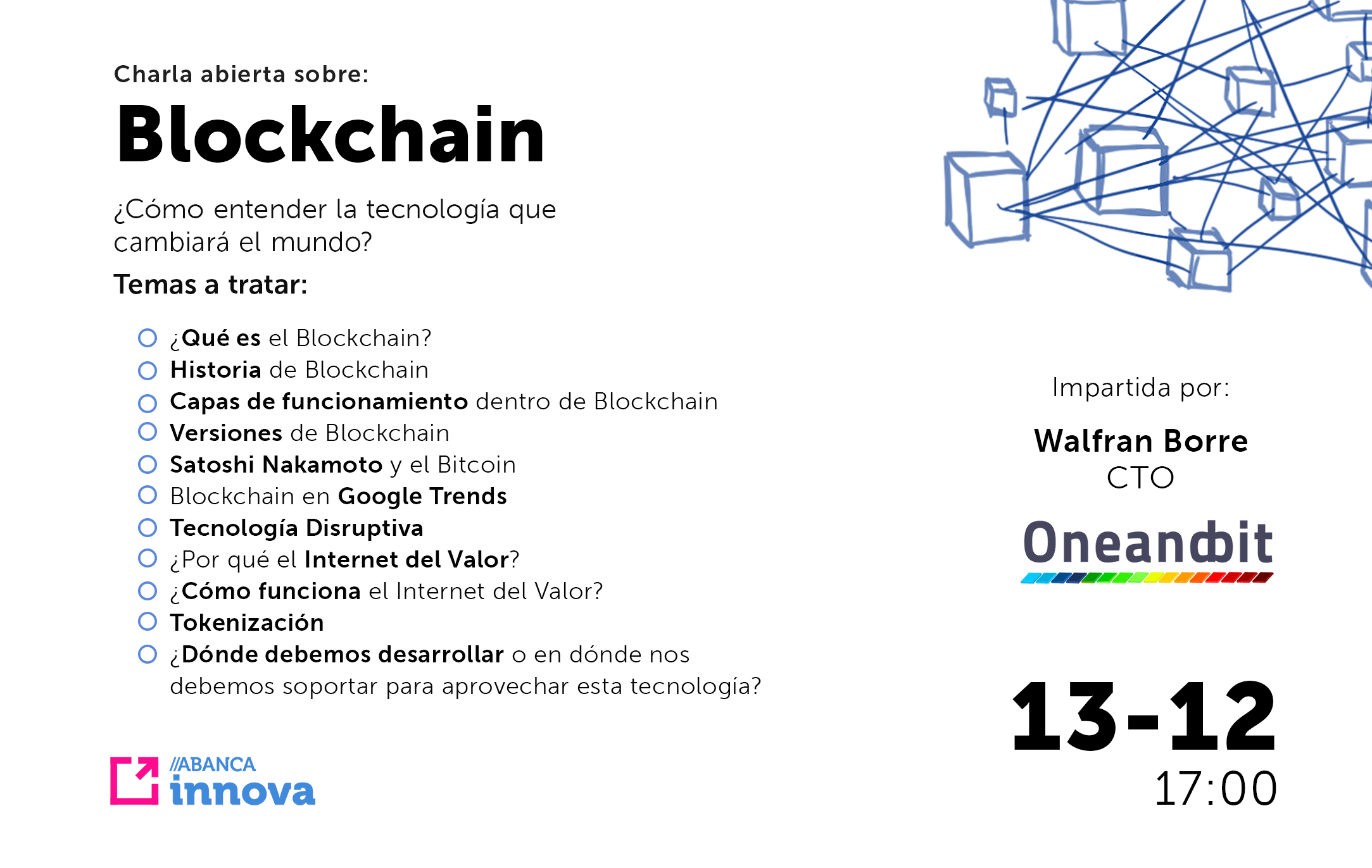 Charla abierta sobre Blockchain: ¿Cómo entender la tecnología que revolucionará al mundo?