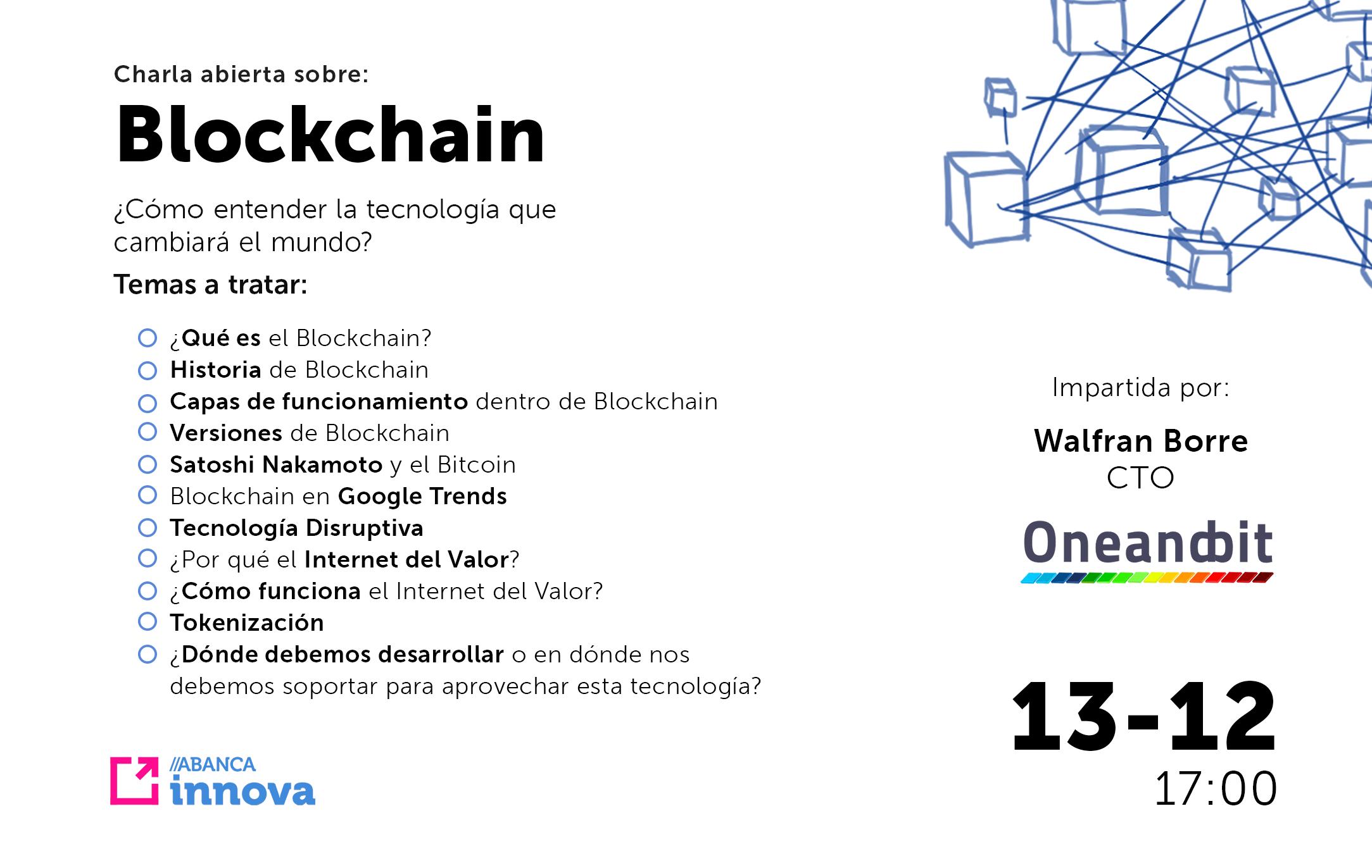 Cartel Charla Blockchain