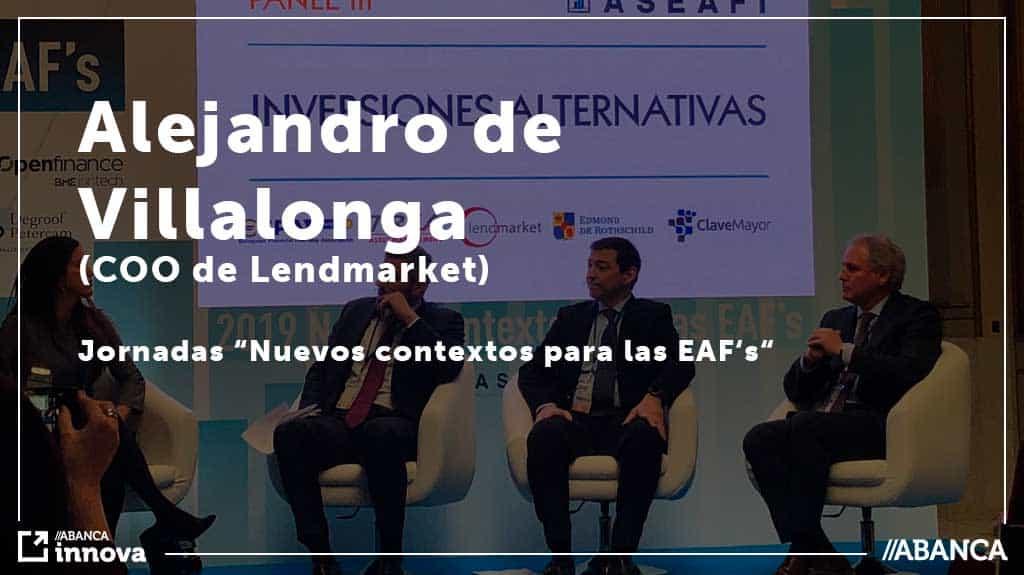 Alejandro, CEO de Lendmarket participó en las Jornadas sobre inversión alternativa del ASEAFI