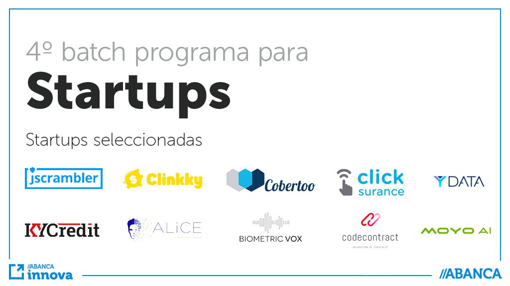 startups seleccionadas 4º batch